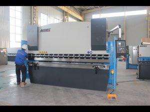 125T xafla tolestatzeko makina 6mm, prentsa hidrauliko balazta WC67Y-125T 3200 Txinara