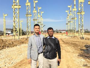 Bangladesh Bezeroak bisitatu Factory berria bisitatzen dugu eraikina