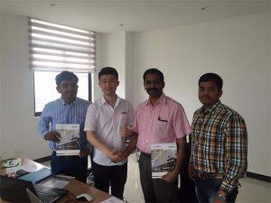 Sri Lankako bezeroek Teknologia eztabaidatu Mr.Tai gure bulegoan